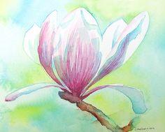 Fine Art Watercolor - Magnolia | Flickr: Intercambio de fotos