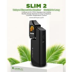kimsun slim2: one outstanding feature is that disposable atomizer with vacuum design can solve the leakage problem effectively and easy to replace. Also with the buckle design and magnet connection, the atomizer connects to the mod magnetically. http://www.kimsun.com/product/slim-2/ email:sales@kimsun.com#prefilledatomizer#dailycarry#handcheck#vapemod#boxmod