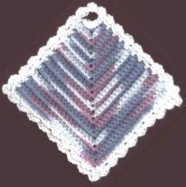 Diamond Dishcloth - free crochet pattern