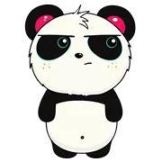 Ideas for Decorating a Bedroom in a Panda Theme Panda Funny, Cute Panda, Panda Sketch, Math Wallpaper, New Emojis, Panda Wallpapers, Stylish Girl Pic, Funny Stickers, Animal Drawings