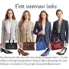 First Interview Suits, created by professionality on Polyvore