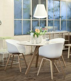 """""""Dining with the Copenhague table, AAC chair and Sinker light #WrongforHay  #HAY #HayDesign"""""""