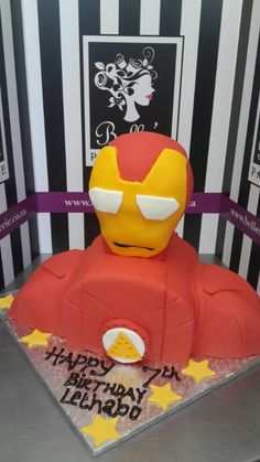 Iron man birthday cake by Belle's Patisserie