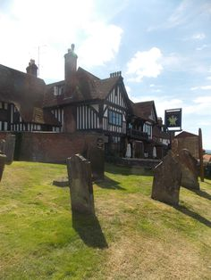 This is the 14th century pub The Star & Eagle in the village of Goudhurst, Kent, UK right next door to the village church graveyard. the pub has stunning views across the Weald of Kent By B Lowe