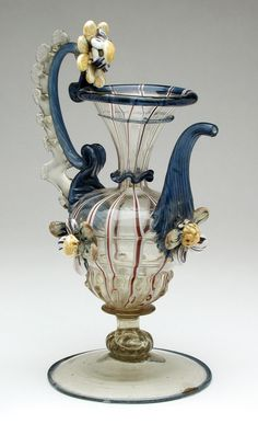 'Vetro a Fili' Ewer Italy, Venice, late 17th century Furnishings; Serviceware Glass.