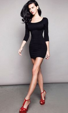 Simple, little black dress.