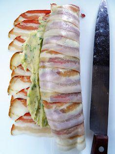 sio-smutki! Monika od kuchni: Rolada ziemniaczana w boczku wędzonym Fresh Rolls, Sushi, Cabbage, Food And Drink, Vegetables, Ethnic Recipes, Mad, Vegetable Recipes, Cabbages