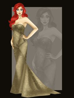 Miss Disney: Ariel with the gown of Miss USA Universe 2011.