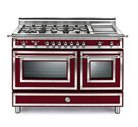 Range - 48 inch Gas Stove, 6 Burners, Double Oven, Griddle - Heritage Series by Bertazzoni