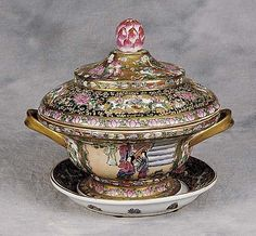 Chinese Export style covered tureen and underplate