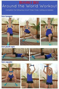 """Too cold outside for a workout? Then you're going to love this """"Around the World"""" circuit from Bee Active fitness expert Presley Salmon."""