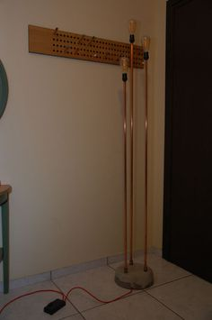 Picture of Pipe and concrete floor lamp