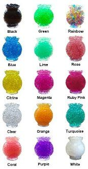 A good resource for buying water beads. Inexpensive and free shipping!  Lots of color choices and inexpensive bulk bags. http://www.rainbowwaterbeads.com