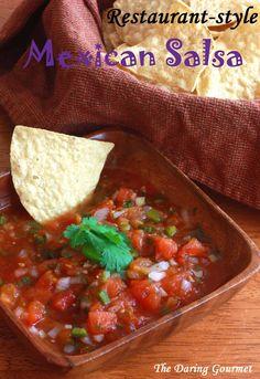 Restaurant-style Mexican Salsa.  daringgourmet.com