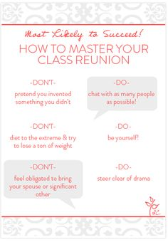 Class reunion ideas top 10 reasons not to miss your class how to master your class reunion class reunion invitationsreunion decorationshigh school stopboris