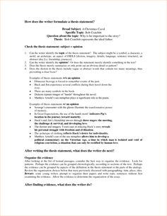 a thesis statement gives an essay its | thesis | Pinterest