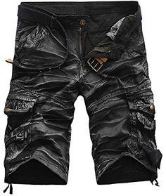 fa2cac41cc1 Larkon Men s Casual Cotton Solid Multi Pocket Cargo Shorts Review Short  Homme