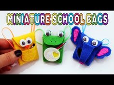 How to Make No-Sew Miniature Backpack - DIY Tutorial. DIY - Back to School: School bag for dolls without sewing. Really opens and closes and you can put stuff inside it! Diy Dolls Tutorial, Craft Tutorials, Back To School Crafts, Crafts For Kids To Make, Kids Crafts, Diy Home Crafts, Doll Crafts, Doll Videos, Animal Backpacks