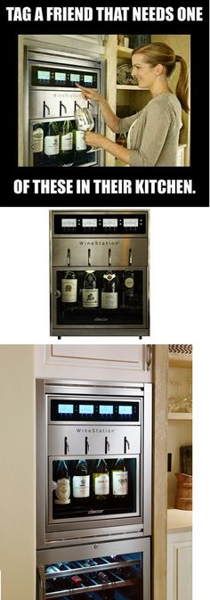 WineStation 4-Bottle Wine Dispenser with Thermo-Electric Cooling System | Craze Trend