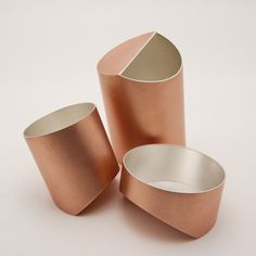 """""""To and Fro"""" by Alison Jackson. 2015. Copper, silver plated, hand fabricated."""