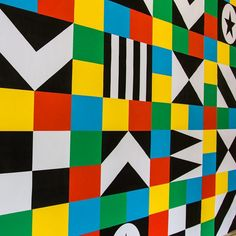 #AfricaUtopia has landed @southbankcentre today. @lakwena has installed a large #kaleidoscopic #mural in Queen Elizabeth Hall foyer. Come see it at Africa Utopia this weekend. www.southbankcentre.co.uk/africautopia