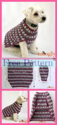 Amazing Photo of Free Crochet Dog Sweater Patterns Free Crochet Dog Sweater Patterns 10 Cozy Crocheted Dog Sweater Free Patterns Diy 4 Ever Crochet Dog Sweater Free Pattern, Crochet Dog Patterns, Knit Dog Sweater, Sweater Patterns, Free Crochet, Simple Crochet, Sewing Patterns, Large Dog Sweaters, Crochet Dog Clothes