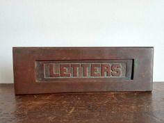 Antique Brass Letter Slot by EastonandBelt on Etsy
