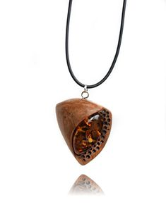 Amber necklace wooden amber jewelry for women handmade
