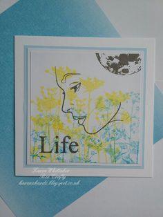 Ladies Profile and flowers  #beecraftystamps #dtsample #ladiesprofile #wildflower2 #groundelder #life&rain #moon #distressinks #flowers #stamping #stamp #cardmaking #card #creative #craft #ilovetocraft