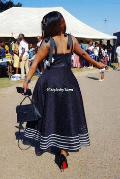 High Waisted Full Flare Dress – Styles By Tumi Sotho Traditional Dresses, South African Traditional Dresses, Traditional Dresses Designs, African Dresses For Kids, Latest African Fashion Dresses, African Dresses For Women, Seshweshwe Dresses, Stylish Dresses, Elegant Dresses