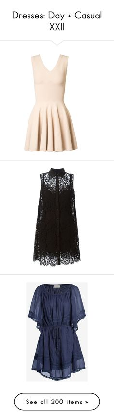 """""""Dresses: Day + Casual XXII"""" by jay-to-the-kay ❤ liked on Polyvore featuring casual, dresses, daydresses, short dresses, daytime, kirna zabete, pleated dress, a line cocktail dress, v neck a line dress and a line mini dress"""