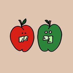 Real Friends #art #apple #fruit #healthy #food #drawing #illustration #cartoon #graffiti #streetart #sketch #design