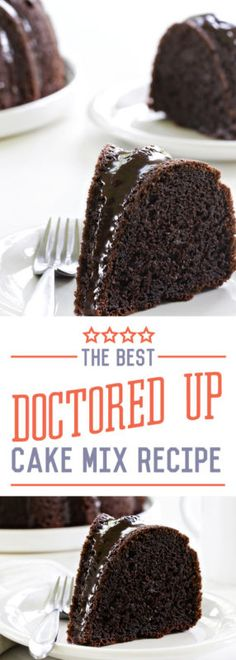 The BEST Doctored Up Chocolate Cake Mix Recipe! No one will know it took you minutes to throw together and everyone will be begging you for the recipe!