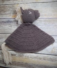 Wesley the Pony Lovey - Auburn Elephant Crochet Decrease, Double Crochet, Single Crochet, Snuggle Blanket, Lovey Blanket, Crochet Pony, Free Crochet, Knitted Hats, Crochet Hats