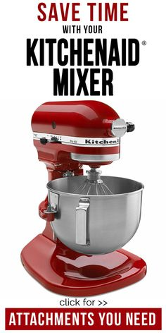 Create your favorite recipes with ease with this KitchenAid Empire Red Pro 500 Bowl-Lift Stand Mixer. This stand mixer features a five-quart stainless steel bowl, flat beater, dough hook, and wire whip attachments and a 10 speed controls. Kitchen Aid Recipes, Kitchen Hacks, Kitchen Gadgets, Kitchen Appliances, Kitchen Aide, Red Kitchen, Kitchens, Kitchen Tools, Kitchen Products