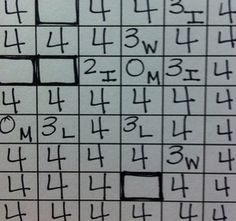 Math Homework Scores in Gradebook with Footnotes