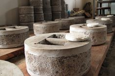 Stones for pressing Puer cakes