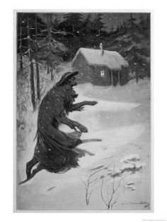 Simon Harmon Vedder, American Werewolf Returning Home, 1901 Fine Art Prints, Canvas Prints, Framed Prints, Mysteries Of The World, Werewolf Art, Unexplained Mysteries, Cryptozoology, Mythical Creatures, Wonderful Images