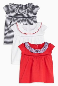 Buy Red Ditsy T-Shirts Three Pack (0mths-2yrs) from Next Belgium