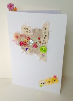 Teacher Thank You Card,Collage Design,Can be Personalised,Handmade Card £1.95