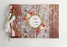 Papiernictvo - Kniha hostí - vintage style - 5704700_