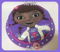 Chocolate cake, Made as a gift for a sweet lil' girl. Edible image and fondant designed. April 2015