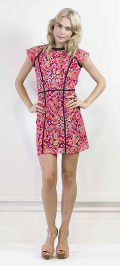 Step out with this pretty lace minidress  #halcyonstate