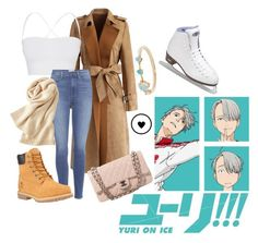 """Gender Bend Viktor Nikiforov - Yuri On Ice"" by princesselesa ❤ liked on Polyvore featuring Chicwish, Theory, Paige Denim, Timberland, Uniqlo, Chanel, WWAKE and Riedell"