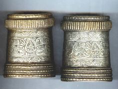silver and brass cuffs inlaid with silver late 19th c Afghanistan private collection Linda Pastorino