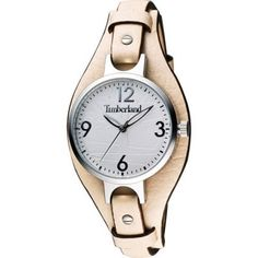 Timberland - Ladies Deering Beige Leather Strap Cuff Watch 14203LS-01A - RRP: £79.00 -Online Price: £71.00