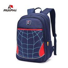 ecf1adfece RUIPAI Kids School Bag Backpack Schoolbags Spider Shoulder Bags For Primary Student  Boys Girls Polyester Satchel Backpacks