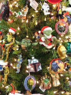 Star Wars Christmas tree  http://www.stupiditiz.com/wp-content/uploads/2009/08/starwars-xmas-tree.jpg