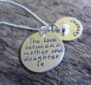 Love Between Mother and Daughter Necklace~Sterling Silver