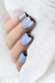 Marine Loves Polish: Nailstorming - Blue French manicure                                                                                                                                                                                 More